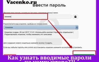Как посмотреть пароли вводимые в браузере
