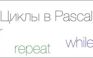 While repeat паскаль