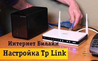 Настройка роутера tp link билайн интернет