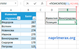 Excel поискпоз по двум условиям