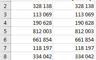 Excel сокращает число